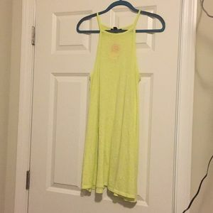 Bright lime green dress